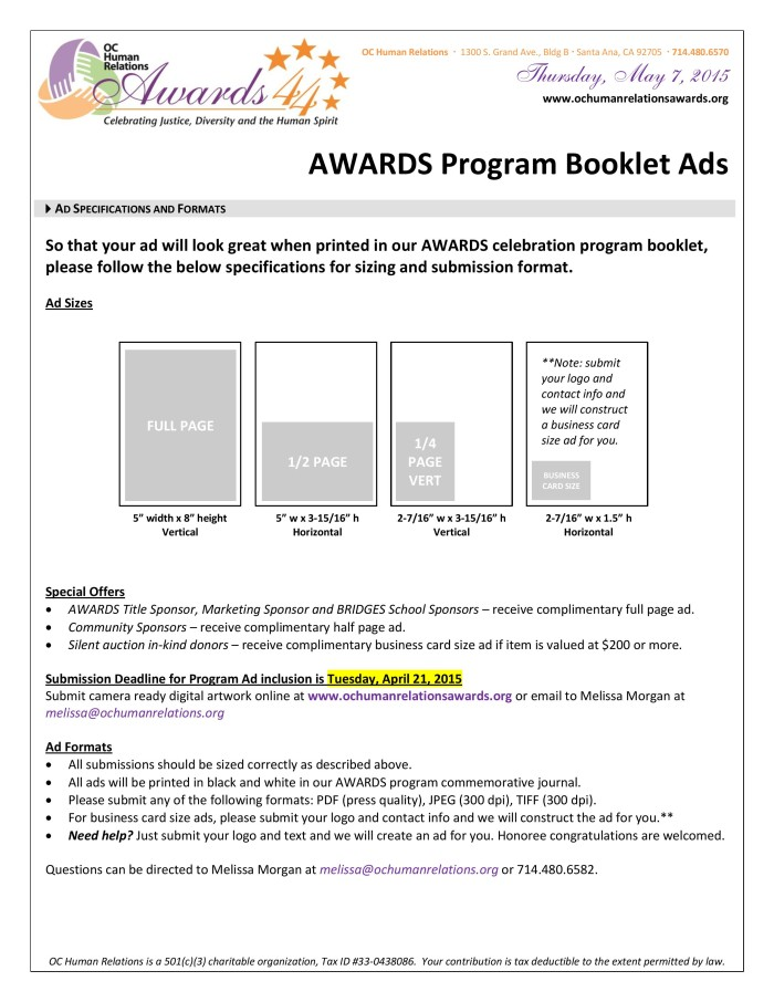 Support OCHR with an AWARDS Program Ad-page-001